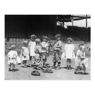 Kinder und Baseball, frühe 1900s Postkarte