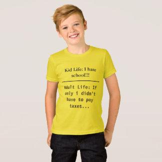 Kinder-und Erwachsen-Leben-lustiger KinderschulT - T-Shirt