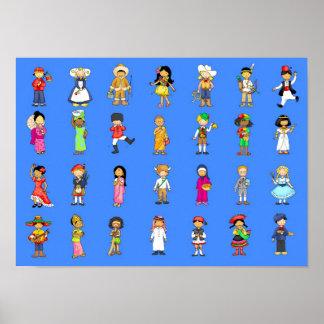 Kinder von den arouns die Welt Poster