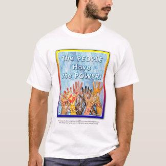 Kinder von Zinn steigen oben! Plakat-Kunst T-Shirt
