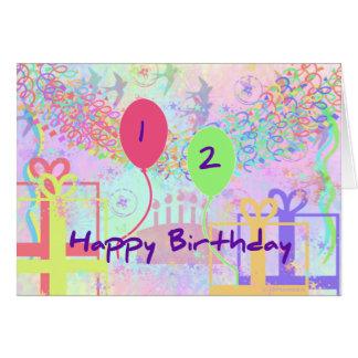 Kinderalles Gute zum Geburtstag zwei Jahre alt Karte