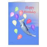Kinderalles- Gute zum GeburtstagParty-Delphin Grußkarten