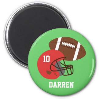 Kinderamerikanischer Football-Helm-Name Runder Magnet 5,1 Cm