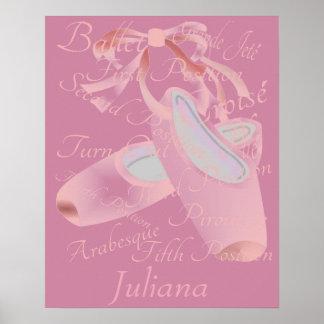 Kinderballett-Tanz personalisiert Poster