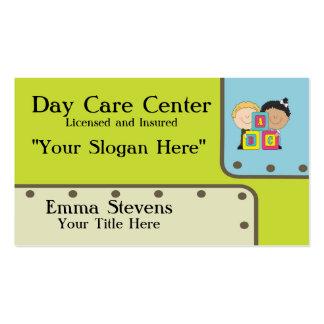 Kinderbetreuung ABC-KinderVisitenkarte-Schablone Visitenkarten