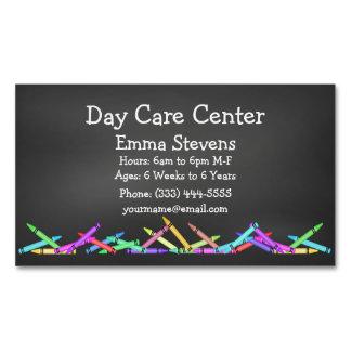 Kinderbetreuungs-Tafel zeichnet Magnetische Visitenkarte
