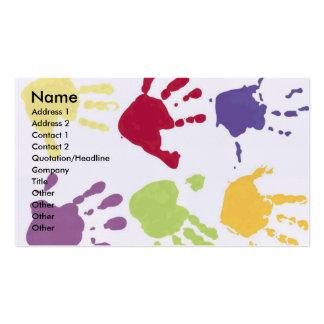 Kinderbetreuungs-Visitenkarten