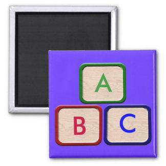 Kinderblock-Kühlschrankmagnet Quadratischer Magnet