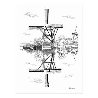 Kinderdijk Windmühle Postkarte