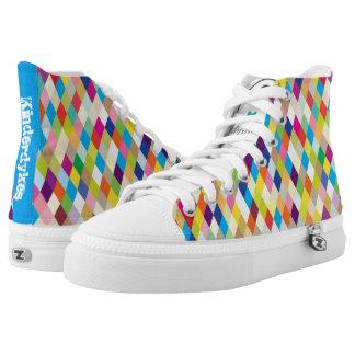 Kinderdykes Regenbogen Brights Hoch-geschnittene Sneaker