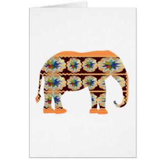 Kinderecke - gemalter Elefant Karte