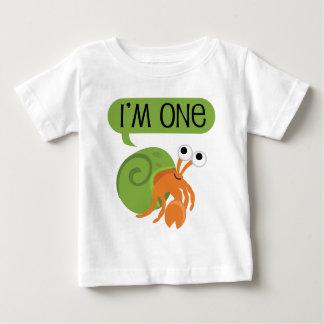 Kindererster Geburtstags-Einsiedlerkrebs Baby T-shirt