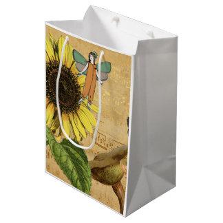 Kinderfeen Sonnenblume und Pilze Mittlere Geschenktüte