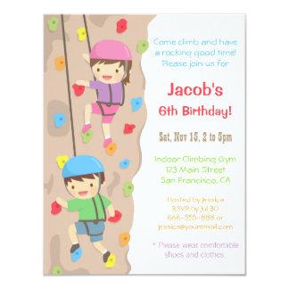 Kinderfelsen-Kletterngeburtstags-Party Einladungen