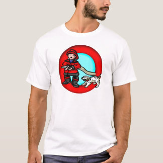 Kinderfeuerwehrmann-T-Shirt T-Shirt