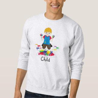 Kinderfingerpainting Strickjacke Sweatshirt