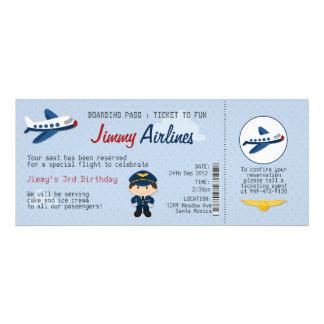 Kinderfluglinien-Karten-Geburtstags-Party Individuelle Einladungskarten