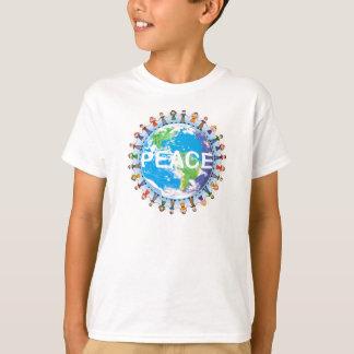 KinderfriedensT - Shirt - Kinder, die Handkugel