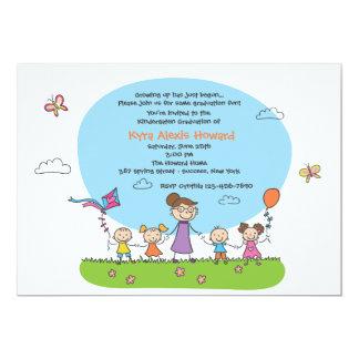 Kindergarten-Abschluss-Einladung 12,7 X 17,8 Cm Einladungskarte