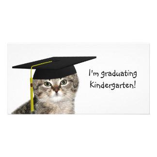 Kindergarten-Abschluss Foto Karten Vorlage