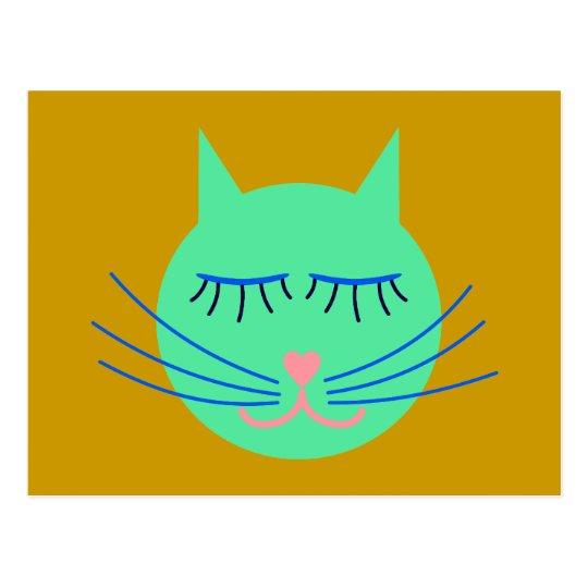 Kindergarten Katze cat Postkarte