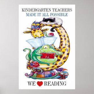 Kindergarten-Wählen Sie Größe-Uns Liebe-Ablesen! Poster