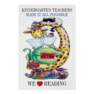 Kindergarten - wir Liebe-Ablesen! Plakat
