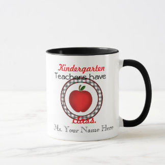 Kindergärtnerinnen haben Klassenapfel-Tasse Tasse