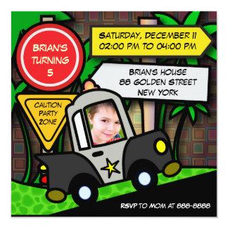 Kindergeburtstag-Einladung: 052 Polizei