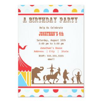 Kindergeburtstag-Einladung - Zirkus 12,7 X 17,8 Cm Einladungskarte