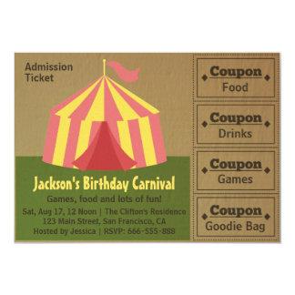 Kindergeburtstag-Party: Karnevals-Aufnahme-Karte Personalisierte Einladung