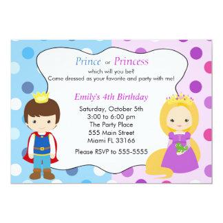 Kindergeburtstag-Party Prinz-Prinzessin Invitation 12,7 X 17,8 Cm Einladungskarte