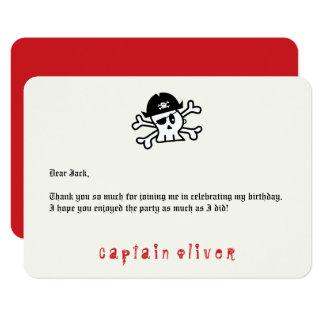 Kindergeburtstag Piraten-Kapitän-Skull danken 8,9 X 12,7 Cm Einladungskarte