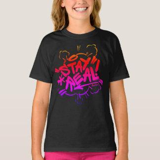 KinderGraffiti: Aufenthalt-wirkliche Mädchen T-Shirt