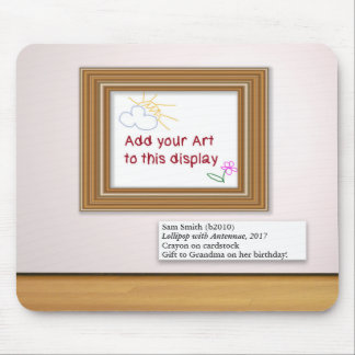 Kindergrafik-Kunst-Galerie-Rahmen-Anzeige Mousepad