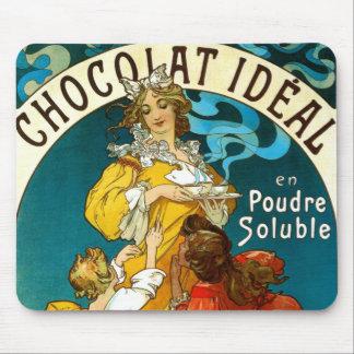 Kinderillustration Alfons Muchas Chocolat Idéal Mauspad