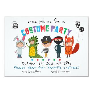 Kinderkostüm-Party Einladung