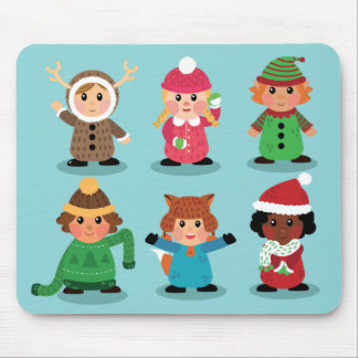 Kinderkostüme im Winter Mousepad