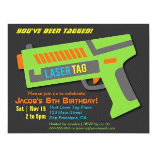 Kinderlaser-Umbau-Geburtstags-Party Einladungen
