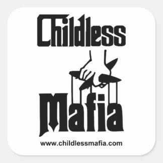 Kinderlose Mafia-Aufkleber Quadratischer Aufkleber