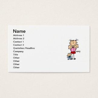 Kindermädchen-Strichmännchen Visitenkarte