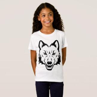 Kindermädchen-Wolf-Gesichts-Shirt T-Shirt