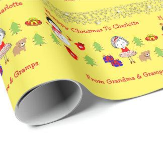 Kinderniedliches Weihnachtsfeiertags-Muster Geschenkpapier