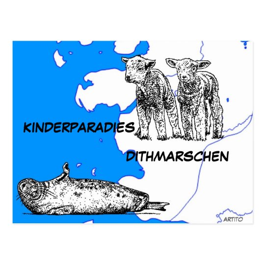 Kinderparadies Dithmarschen Postkarte