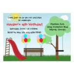 Kinderpark-Geburtstags-Party Einladung