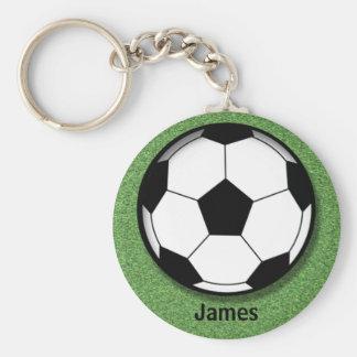Kinderpersonalisierte Fußball-Ball-Schlüsselkette Standard Runder Schlüsselanhänger