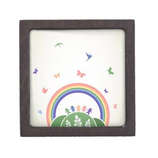 Kinderregenbogen Kiste