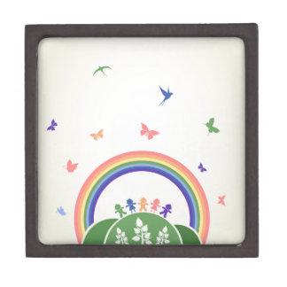 Kinderregenbogen Schachtel