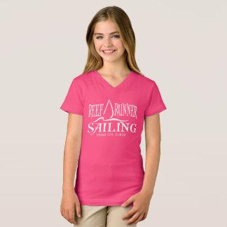 Kinderriff-Läufer-Segeln-T-Stück - Segelboot-Logo T-Shirt