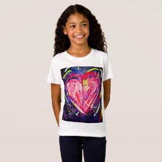 Kinderrosa Herz-T - Shirt